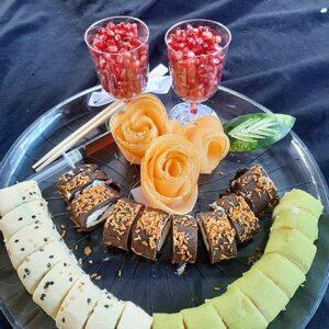 מגש סושי פירות